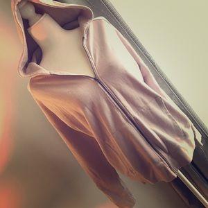 Distressed blush hoodie